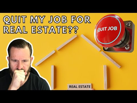 Should I quit my job to do real estate full time❓