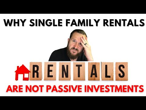 Why Single Family Rentals Are Not Passive Investments❓